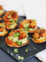chicken cajun canapé